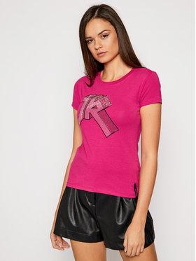 John Richmond John Richmond T-shirt Giulietta UWA20121TS Rosa Slim Fit
