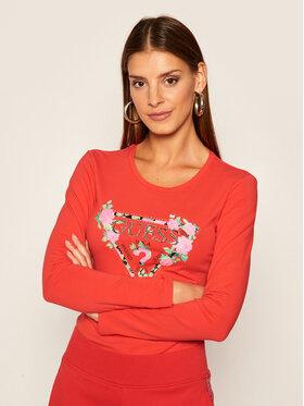 Guess Guess Μπλουζάκι Vilma W0YI83 J1300 Κόκκινο Slim Fit
