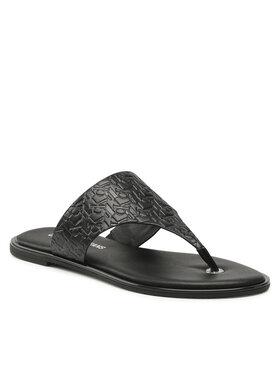 Calvin Klein Jeans Calvin Klein Jeans Žabky Flat Sandal Toe Slide Em Pa-Pl YW0YW00142 Černá
