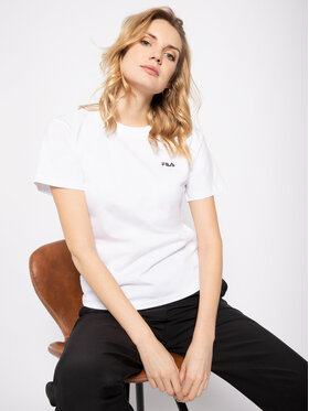 Fila Fila T-Shirt Eara 687469 Λευκό Regular Fit