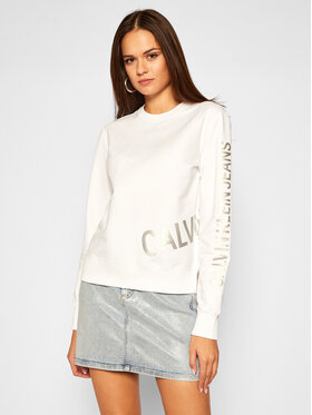 Calvin Klein Jeans Calvin Klein Jeans Bluza J20J214798 Biały Regular Fit