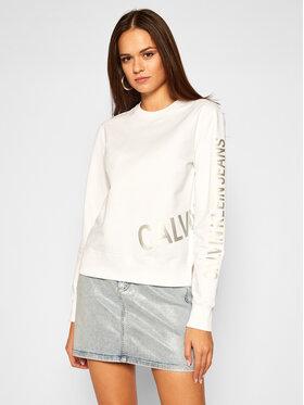 Calvin Klein Jeans Calvin Klein Jeans Суитшърт J20J214798 Бял Regular Fit