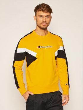 Champion Champion Bluză Sweatshirt 214786 Galben Comfort Fit