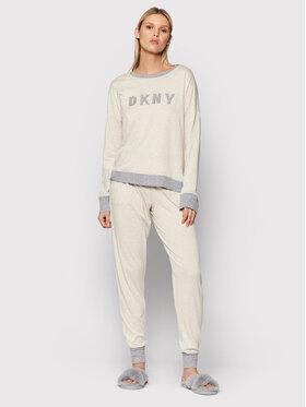 DKNY DKNY Pyžamo YI2919259 Béžová