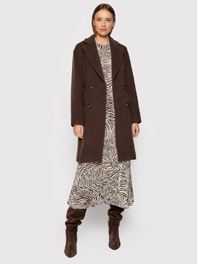 Pinko Pinko Palton de lână Giacomino 1 AI2122 BLK01 1G16S0 Y7E3 Maro Regular Fit