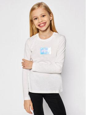 Calvin Klein Jeans Calvin Klein Jeans Blúz Monogram Badge IG0IG00663 Fehér Slim Fit