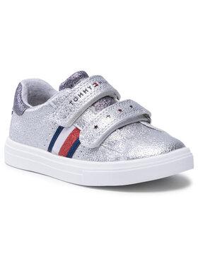 Tommy Hilfiger Tommy Hilfiger Sneakersy Low Cut Velcro Sneaker T1A4-31012-0621939 S Stříbrná