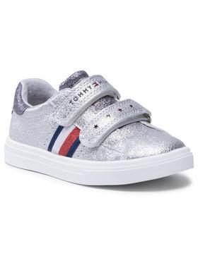 Tommy Hilfiger Tommy Hilfiger Сникърси Low Cut Velcro Sneaker T1A4-31012-0621939 S Сребрист
