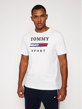 Tommy Sport Tommy Sport T-Shirt Graphic Tee S20S200586 Bílá Regular Fit