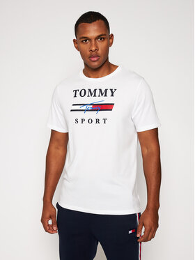 Tommy Sport Tommy Sport Тишърт Graphic Tee S20S200586 Бял Regular Fit