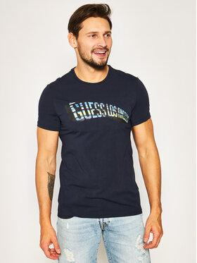 Guess Guess T-Shirt M0GI63 J1300 Tmavomodrá Slim Fit