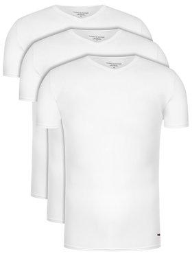 Tommy Hilfiger Tommy Hilfiger Set 3 tricouri Vn Tee Ss 3 Pack Premium Essentialis 2S87903767 Alb Regular Fit