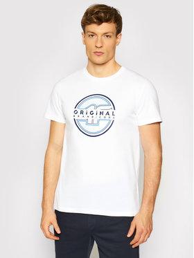 4F 4F Marškinėliai H4L21-TSM019 Balta Regular Fit