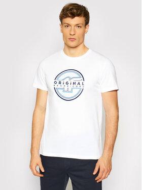 4F 4F T-Shirt H4L21-TSM019 Biały Regular Fit