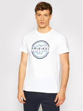 4F 4F T-Shirt H4L21-TSM019 Bílá Regular Fit