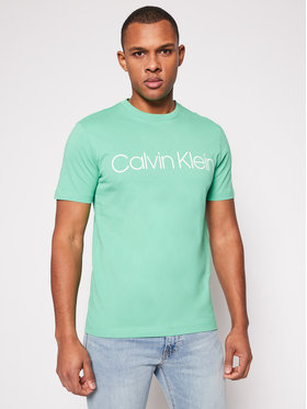 Calvin Klein Performance Calvin Klein Performance Tricou Cotton Front Logo K10K103078 Verde Regular Fit