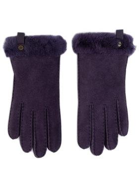 Ugg Ugg Rukavice W Shorty Glove W Leather Trim 17367 Fialová
