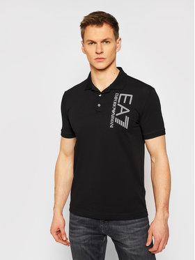 EA7 Emporio Armani EA7 Emporio Armani Тениска с яка и копчета 3KPF16 PJ03Z 1200 Черен Regular Fit
