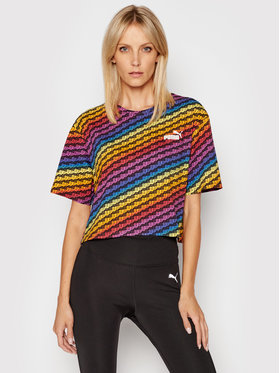 Puma Puma T-shirt Pride Aop Tee Wmns 587233 Multicolore Relaxed Fit