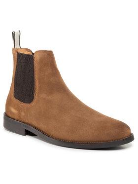 Gant Gant Členková obuv s elastickým prvkom Sharpville 21653035 Hnedá