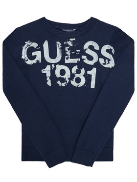 Guess Guess Megztinis L0BR00 Z2HH0 Tamsiai mėlyna Regular Fit