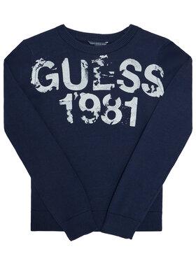 Guess Guess Пуловер L0BR00 Z2HH0 Тъмносин Regular Fit