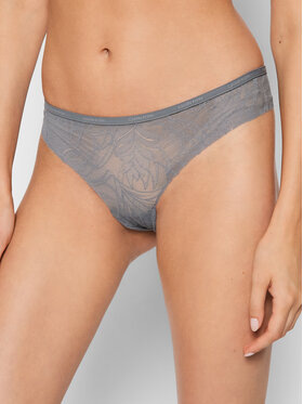 Calvin Klein Underwear Calvin Klein Underwear Стрінги 000QF5244E Сірий