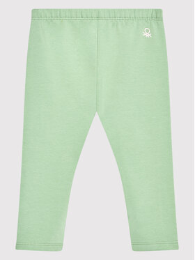 United Colors Of Benetton United Colors Of Benetton Legginsy 35Q2I0508 Zielony Slim Fit