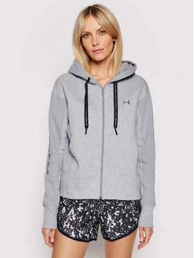 Under Armour Under Armour Bluza Ua Rival Fleece Embroidered 1362419 Szary Loose Fit