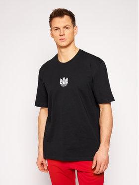 adidas adidas T-Shirt Loungewear adicolor 3D Trefoil Tee GN3548 Czarny Regular Fit