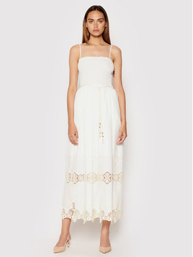 Rinascimento Rinascimento Sukienka letnia CFC0103454003 Biały Regular Fit