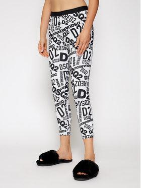 Dsquared2 Underwear Dsquared2 Underwear Legginsy D8N473270 Biały Slim Fit