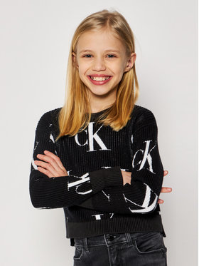 Calvin Klein Jeans Calvin Klein Jeans Pulover Oco Aop IG0IG00679 Negru Regular Fit