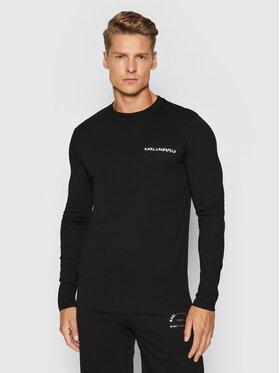 KARL LAGERFELD KARL LAGERFELD Тениска с дълъг ръкав 755040 512224 Черен Regular Fit