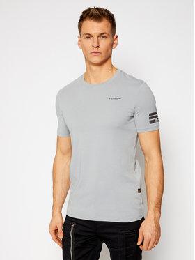 G-Star RAW G-Star RAW T-Shirt Text Gr D17135-336-B959 Szary Slim Fit