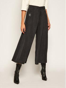 Desigual Desigual Culottes nohavice Super Wide Leg 20WWDD54 Tmavomodrá Regular Fit