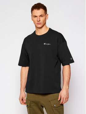 Champion Champion T-shirt Small Script Logo 214282 Nero Custom Fit
