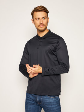 KARL LAGERFELD KARL LAGERFELD Тениска с яка и копчета Press 745000 502200 Тъмносин Regular Fit