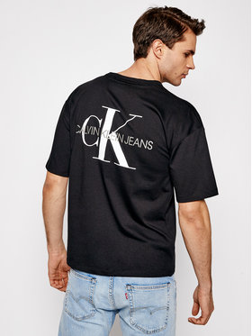 Calvin Klein Jeans Calvin Klein Jeans Tričko J30J318310 Čierna Relaxed Fit