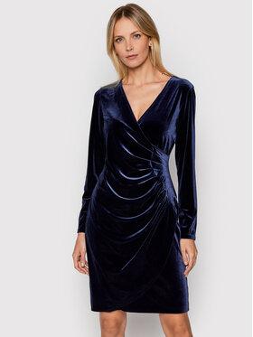 DKNY DKNY Sukienka koktajlowa DD9IF965 Granatowy Slim Fit