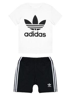 adidas adidas Komplet T-Shirt i szorty sportowe Trefoil FI8318 Czarny Regular Fit