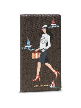 MICHAEL Michael Kors MICHAEL Michael Kors Große Damen Geldbörse Bedford Travel 32S1G07T3Y Braun