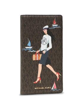 MICHAEL Michael Kors MICHAEL Michael Kors Nagy női pénztárca Bedford Travel 32S1G07T3Y Barna