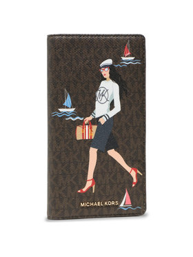 MICHAEL Michael Kors MICHAEL Michael Kors Portefeuille femme grand format Bedford Travel 32S1G07T3Y Marron