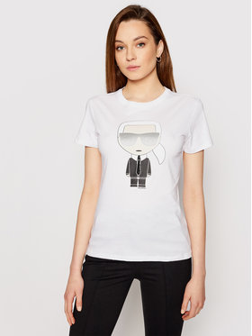 KARL LAGERFELD KARL LAGERFELD T-shirt Ikonik Karl 210W1721 Bijela Regular Fit