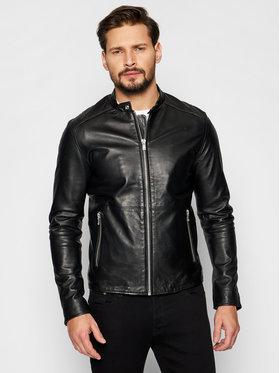 Jack&Jones Jack&Jones Bőrkabát Jprblacolt Leather 12193268 Fekete Regular Fit