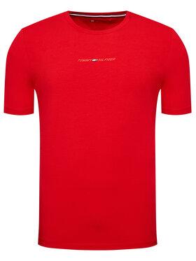 Tommy Hilfiger Tommy Hilfiger T-Shirt Logo Stripe MW0MW17373 Červená Regular Fit