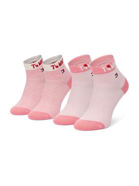Tommy Hilfiger Tommy Hilfiger Set de 2 perechi de șosete lungi pentru copii 100002320 Roz