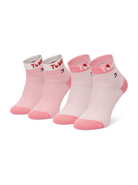 Tommy Hilfiger Tommy Hilfiger Σετ ψηλές κάλτσες παιδικές 2 τεμαχίων 100002320 Ροζ