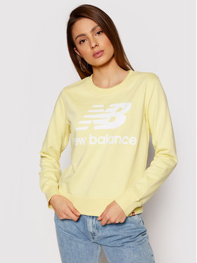 New Balance New Balance Sweatshirt Essentials Crew WT03551 Gelb Relaxed Fit